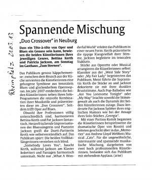 """""""Spannende Mischung"""" - Duo Crossover in Neuburg"""